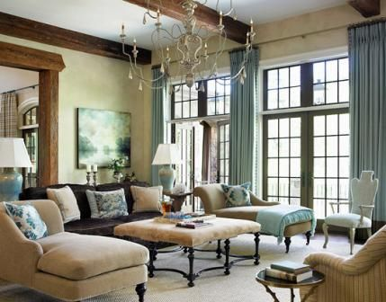 Great colors and design a pair of sculptural chaise for Elegant traditional living room furniture