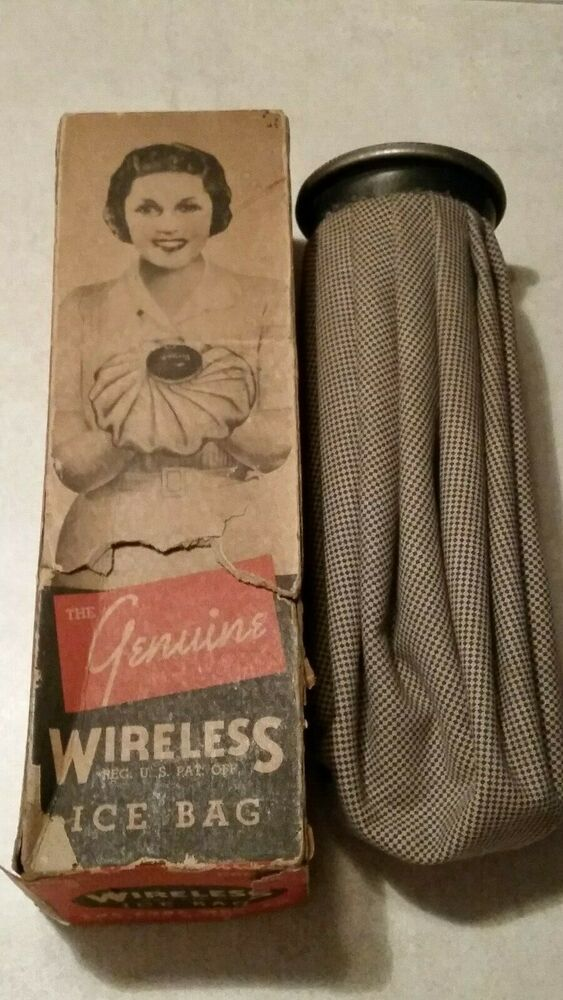 Vintage 1930 S Lobl Mfg Co Wireless Ice Bag W Original Box Vintage 1930s Cool Items Ice Bag