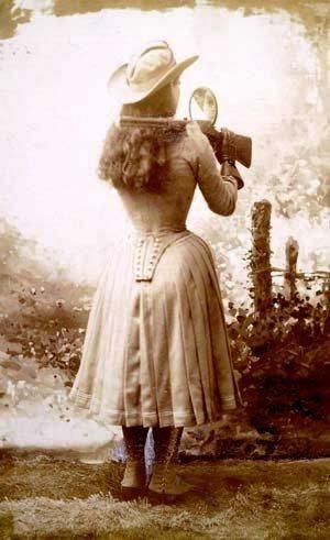 """Annie Oakley tough cookie hot dress. This is my kind of gal!  I can hear my dad laughing and singing """"You can't get a man with a gun!"""""""