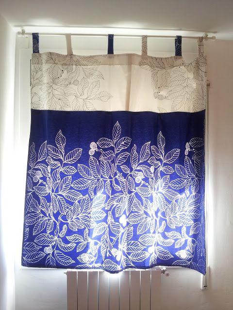 Cortina con telas de ikea a dos colores cortinas ikea - Cortinas de cuentas ikea ...
