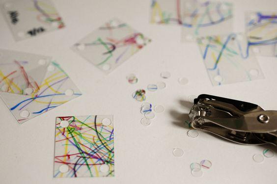 Shrinky Bracelet  #Shrinking Plastic Crafts