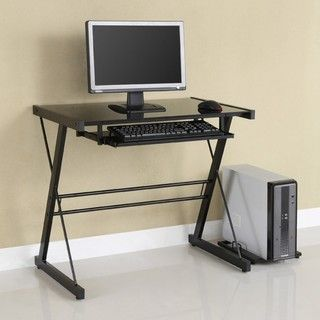 black metal glass computer desk by walker edison black metal computer desk