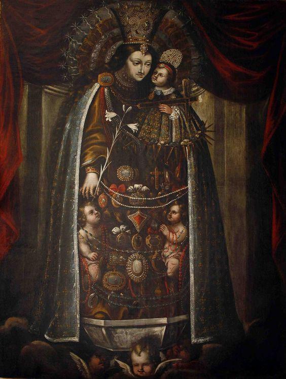 Gaspar de la Huerta - Mare de Deu dels Desamparats (Our Lady of the Forsaken); Real Cofradia de Santa Lucia, Valencia, r...