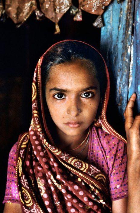 A Rabari girl, photographed in India