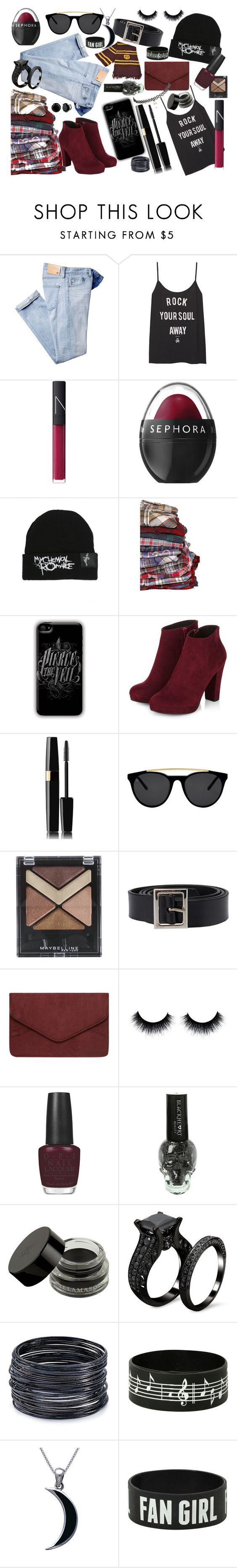 """Back to The Basics"" by deliriousdaydream ❤ liked on Polyvore featuring мода, AG Adriano Goldschmied, NARS Cosmetics, Sephora Collection, Smoke & Mirrors, Maybelline, Dolce&Gabbana, Dorothy Perkins, OPI и ABS by Allen Schwartz"