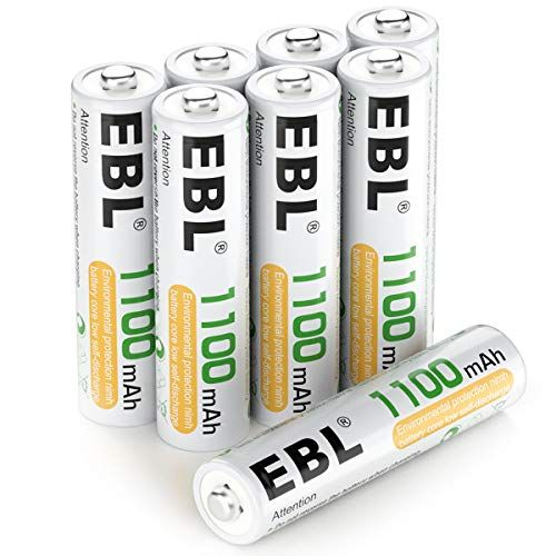 Ebl 8 Pack Aaa Ni Mh Rechargeable Batteries Aaa Batteries Procyco Technology Typical 1100 Rechargeable Batteries Battery Cases Batteries