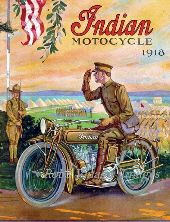Vintage Advertising Posters | Indian cycles