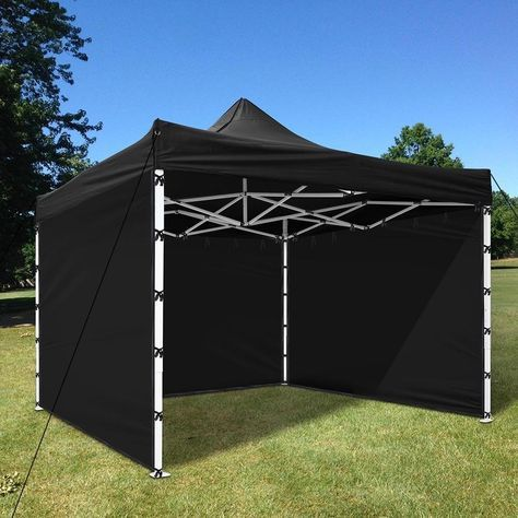 Yescom 1pc 10x10 Ft Ez Pop Up Canopy Tent Side Wall Party Tent Shelter Sun Wall Sidewall Oxford Black Sun Shade Tent Pop Up Canopy Tent Canopy Tent