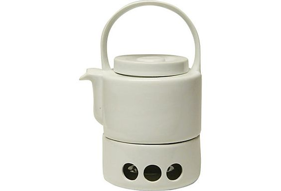 Midcentury White Ceramic Teapot on OneKingsLane.com