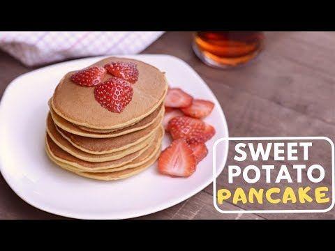 بانكيك البطاطا الحلوة الصحي بدون دقيق Sweet Potato Pancacke Youtube Sweet Potato Pancakes Food Potato Pancakes