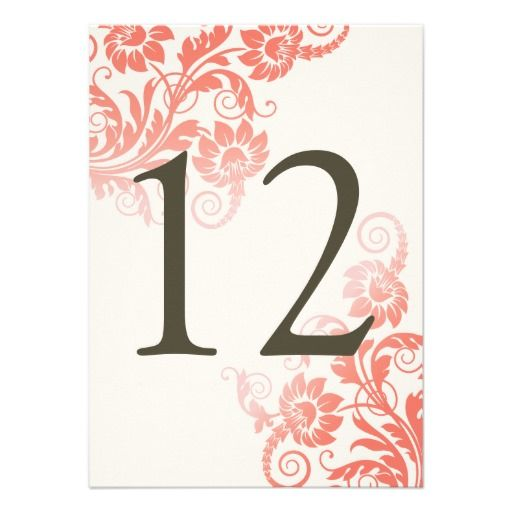 DealsClassy Ombre Coral Table Number Cardtoday price drop and special promotion. Get The best buy
