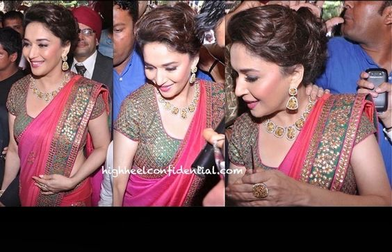 Madhuri Dixit At P N Gadgil Jwellery Launch Launch In SVA By Sonam and Paras Modi-2