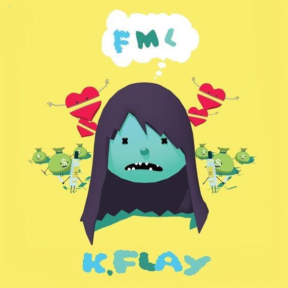 K.Flay – FML (single cover art)