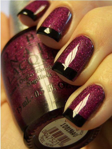Chloe's Nails: OPI DS Extravagance Funky French & a Gradual Mani
