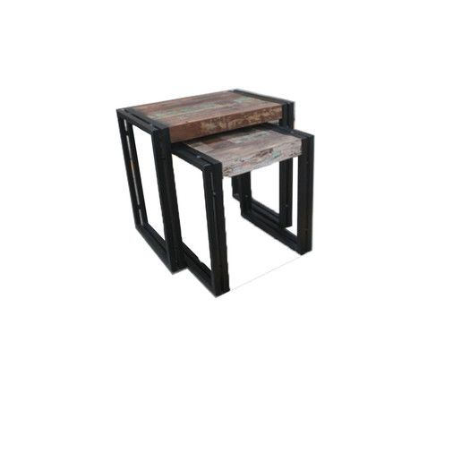 "$179 Timbergirl Hall 2 Piece Nesting Tables.  Large Table: 20"" H x 20"" W x 14"" D Middle Table: 17.5"" H x 17.5"" W x 14"" D"