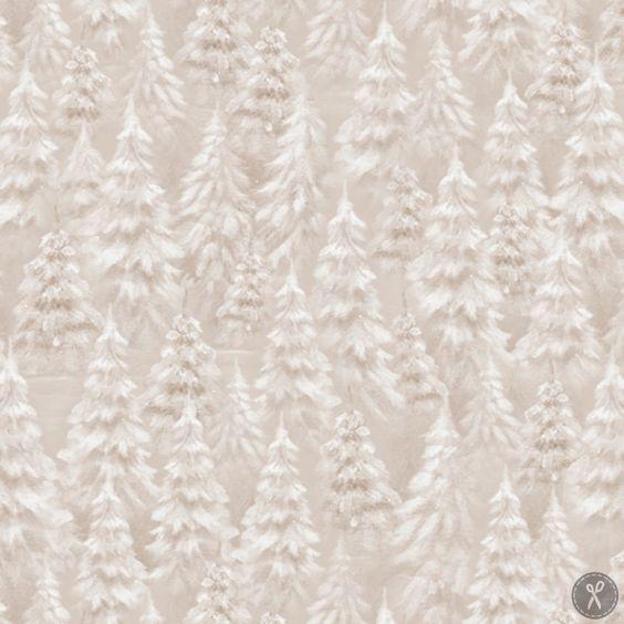 Woodland Wonder Tree Blender Quilting Fabric - Khaki