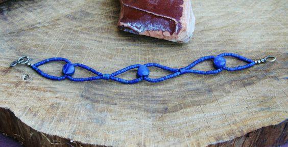 Leuke Lapis Lazuli Armband Met 2 mm Kralen En 3 door EASTERNSOULS