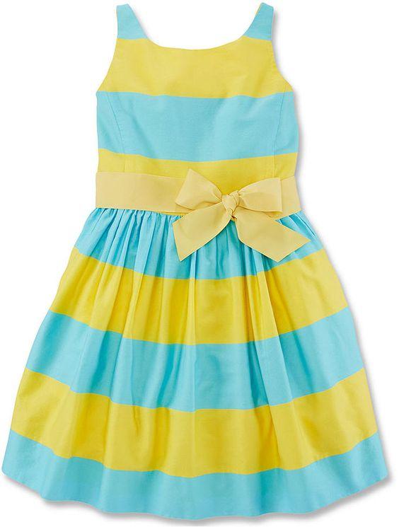 Polo Ralph Lauren Girls' Sateen Dress