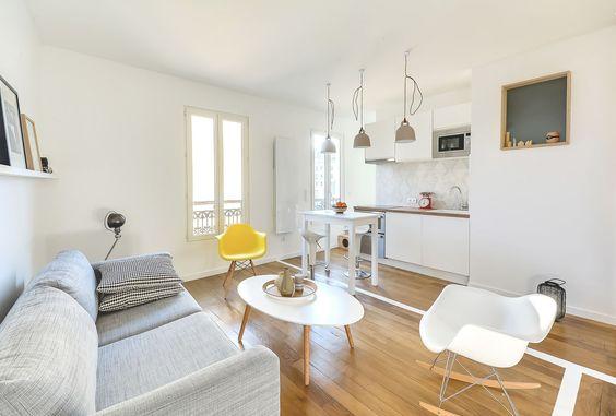 Дизайн однокомнатной квартиры: как оптимально использовать каждый метр и 80 лучших современных интерьеров http://happymodern.ru/dizajn-odnokomnatnoj-kvartiry-30-kv-m/ Минималистичный скандинавский стиль в оформлении кухни-студии