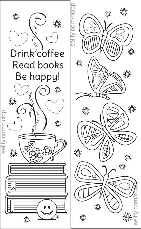 8 Simple Designs Coloring Bookmarks Coloring Bookmarks Butterfly Coloring Page Coloring Pages