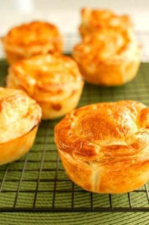 Tasty, healthy and convenient ... chicken and leek pies. Bill Granger
