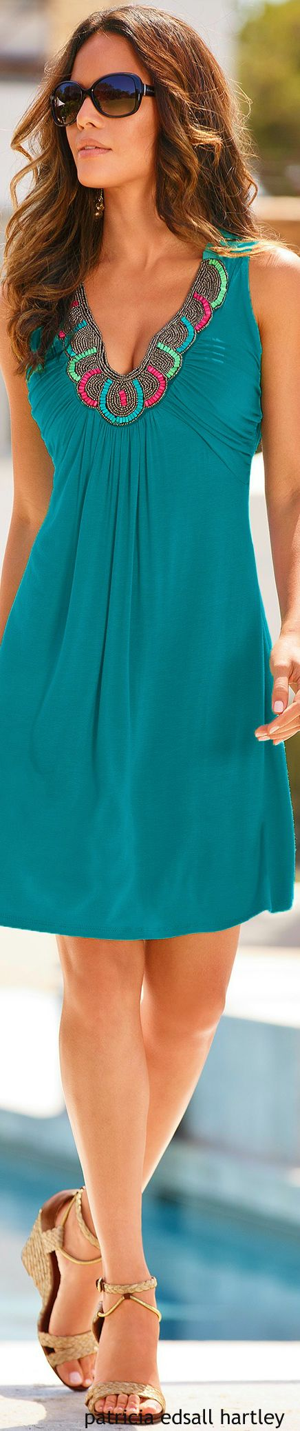 Love the color blue, Its a beautiful dress,for this summer!