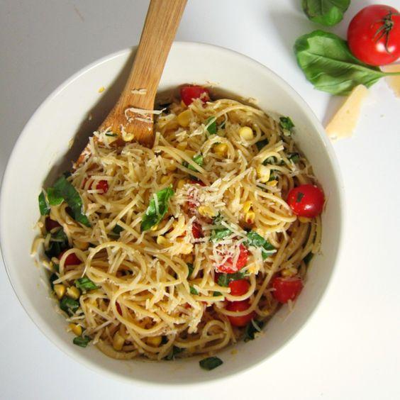 Pasta Summer And Basil On Pinterest