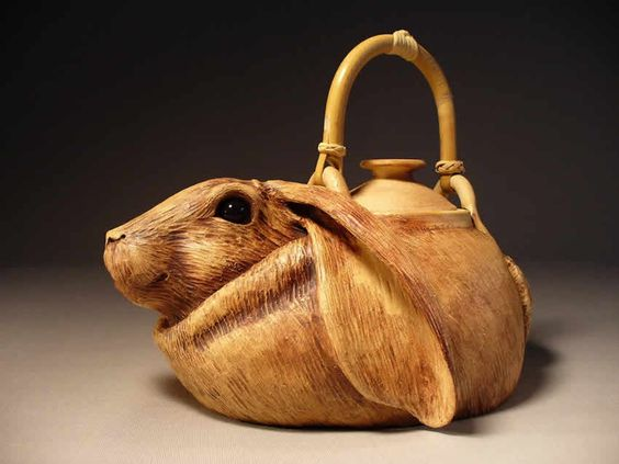 Animal Teapots | Rabbit Animal Pottery | Pottery and ...