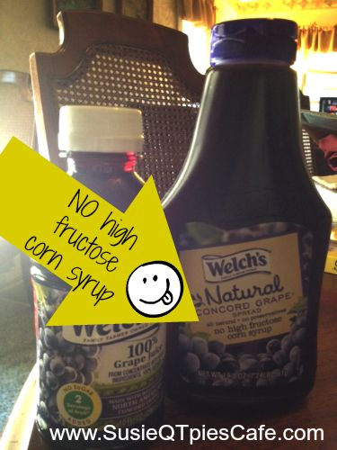 No high fructose corn syrup in the Welch's Natural Jelly