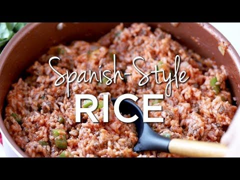 This Spanish Rice Recipe Is Stuffed With Cooked Rice Tomato Sauce Ground Beef Pepp Spanish Rice Spanish Rice Recipe With Ground Beef Rice Recipes For Dinner