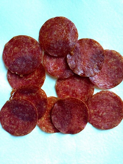 Heavenly Baked Salami Chips. Serve with a mustard or your favorite dip. ReluctantEntertainer.com