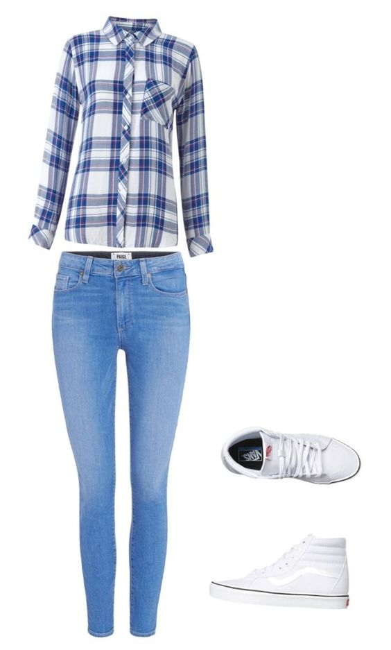 """""""Untitled #3"""" by sunnysideup-xd on Polyvore featuring Paige Denim, Rails and Vans"""