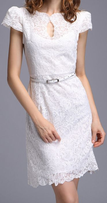Little | White Lace Dress.  dresslily.com