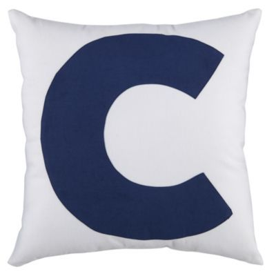 Printed Dot Throw Pillow Cover Initials, Camps and Initial pillow