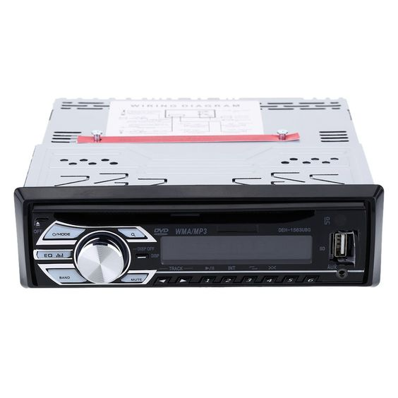 High Quality Reproductor CD DVD MP3 FM Aux coche Radio estéreo reproductor de Audio Receptor USB SD ranura en el tablero from tomtop.com