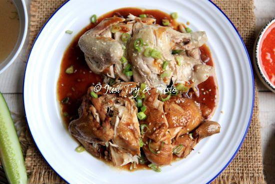 Resep Nasi Ayam Hainan Komplit Dengan 3 Macam Saus Resep Masakan Makanan Resep Masakan Indonesia