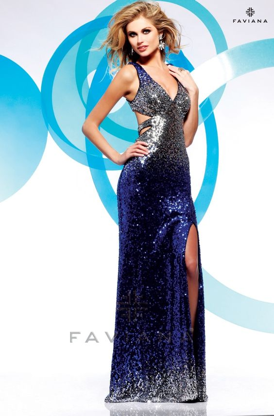 Style: 7120 is a designer gown from the Prom 2013 collection at Faviana as seem in Seventeen Prom available at Binns of Williamsburg