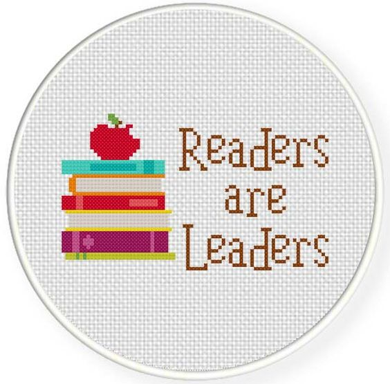FREE for March 27th Only - Readers are Leaders Cross Stitch Pattern