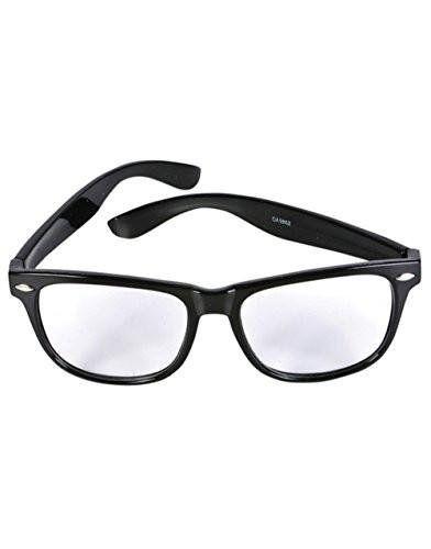 Black Vintage Geek Chic Nerd Glasses