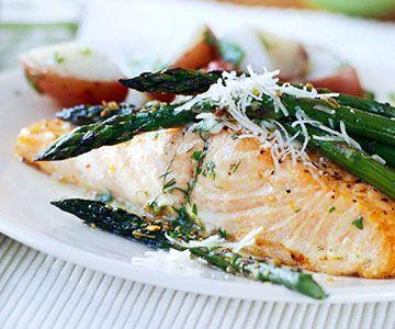 salmon and more butter warm asparagus twists grilled salmon basil ...