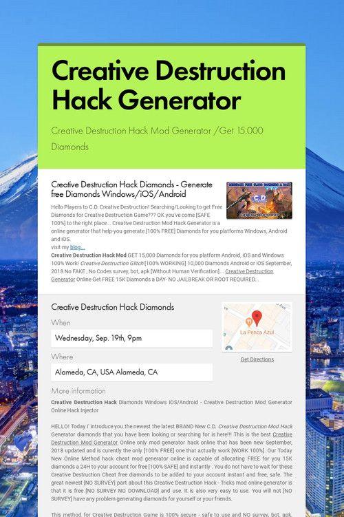 Creative Destruction Hack Generator Creative Destruction