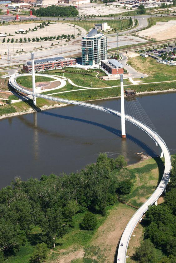 Bob Kerrey Bridge, Omaha.  I've walked across it!: