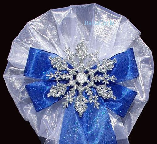 Royal Blue And Silver Wedding Ideas: Pew Bows, Blue Bow And Snowflakes On Pinterest