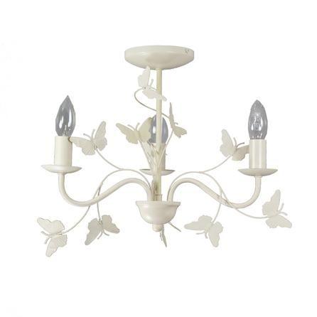 vintage butterfly 3 light fitting dunelm colorful. Black Bedroom Furniture Sets. Home Design Ideas