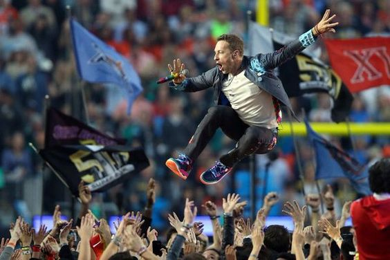 Jump Jump Jump! Coldplay on their A Game tonight #SB50