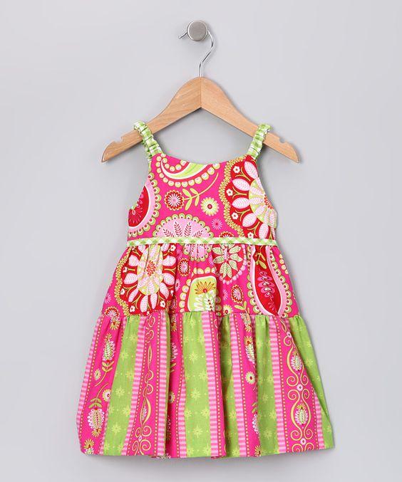 Watermelon Paisley Dress - Infant & Toddler