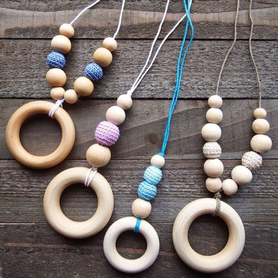 Eco Friendly Nursing & Teething Necklaces  #ecofriendly #allnatural #hemp #handmade #nursingnecklace #breastfeeding #teether #teething #etsyshop #crochet #colorful #handmadejewelry