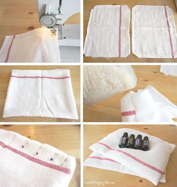 DIY Make Your Own Headache Pillows