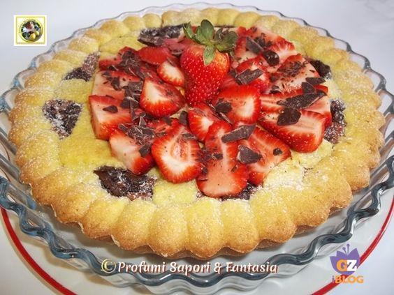 Crostata con crema pasticcera e marmellata di fragole Blog Profumi Sapori & Fantasia