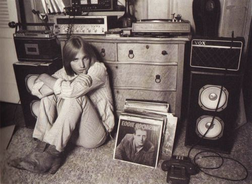 Mostly Vinyl nTom Petty hanging with his records and home stereo